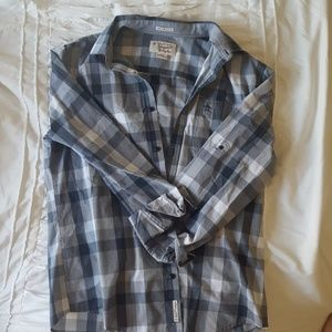Mens large plaid dress shirt